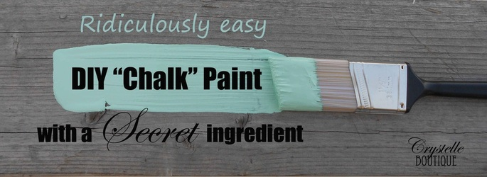 Diy Chalk Paint With Secret Ingredient Crystelle Boutique